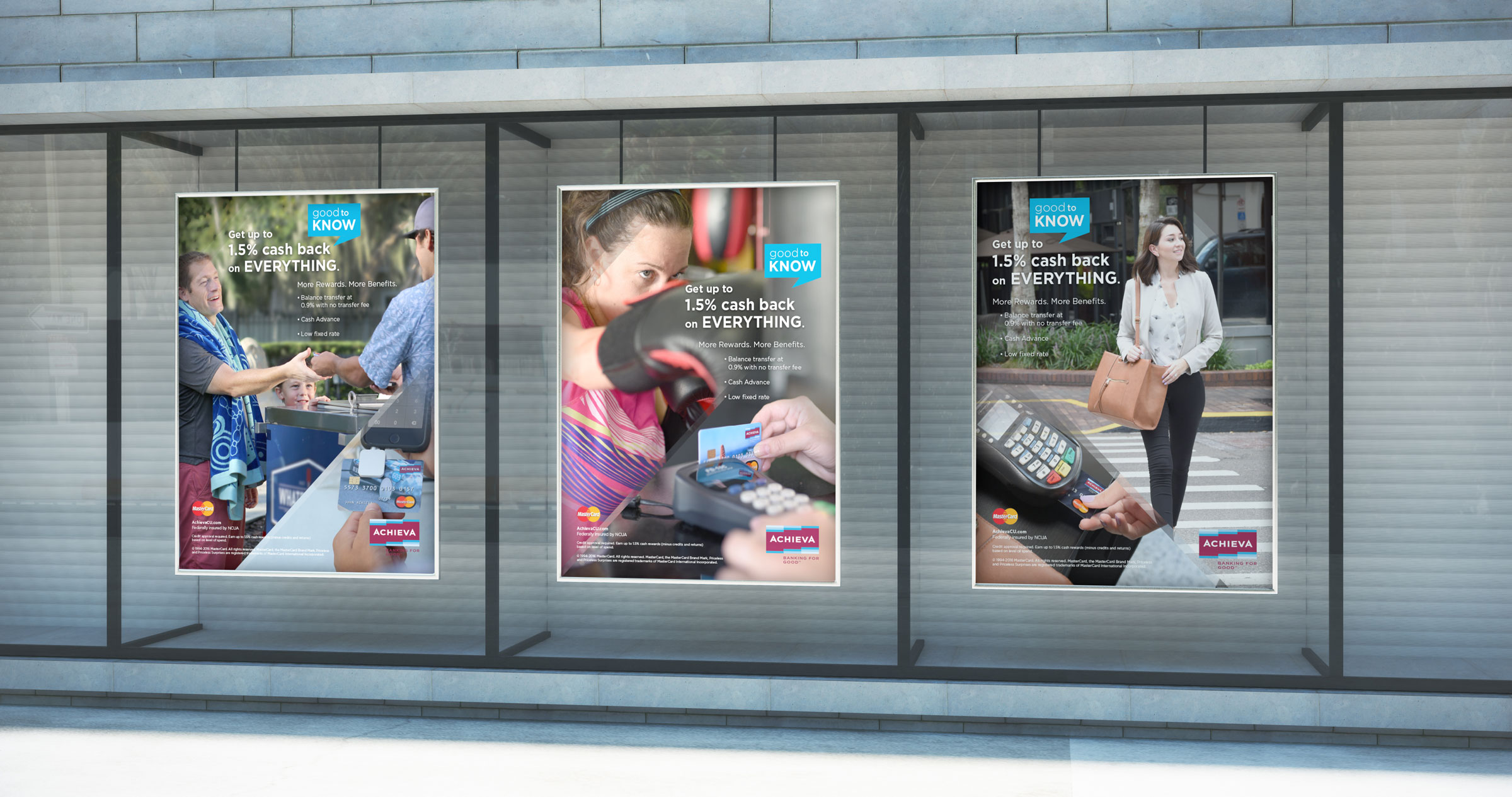 Graphic Designed posters for Achieva Credit Union