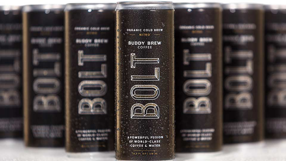 Buddy Brew Bolt Nitro packaging photography