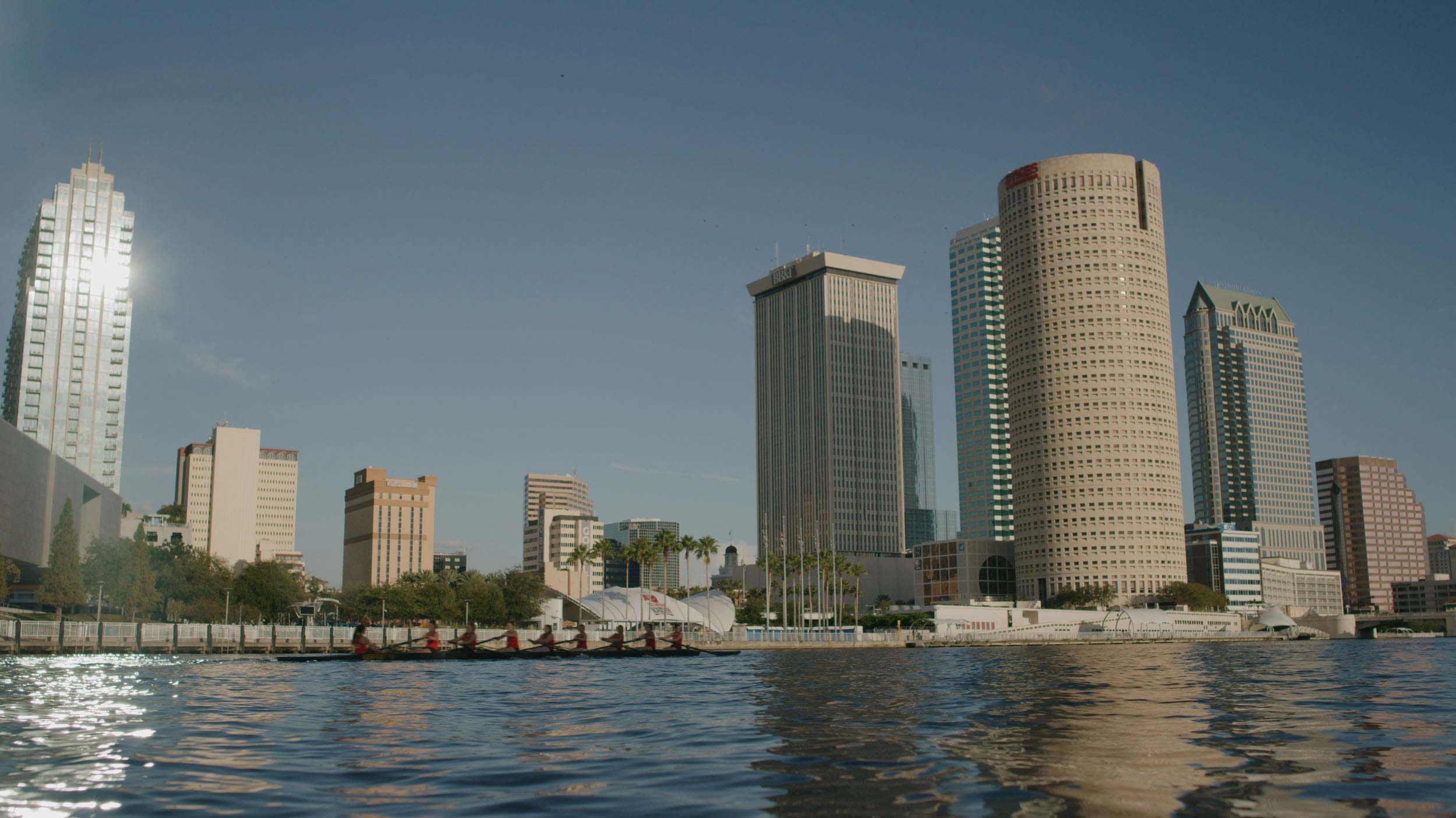view of downtown tampa from Hillsborough River