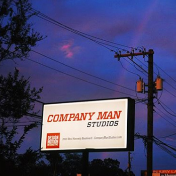 Company man Studios office sign