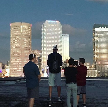 CMS team shooting tampa skyline