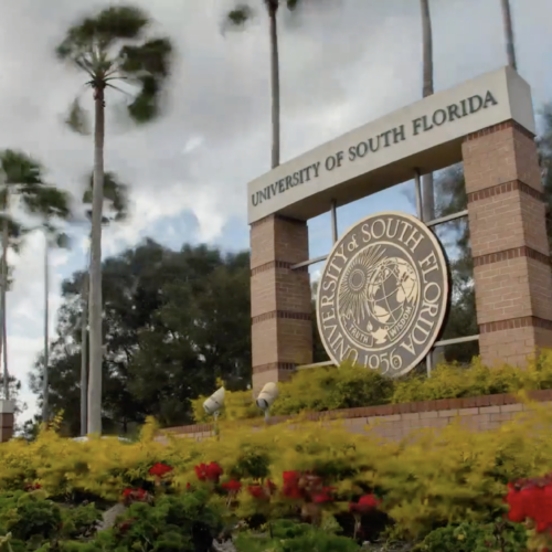University of South Florida front entrance sign
